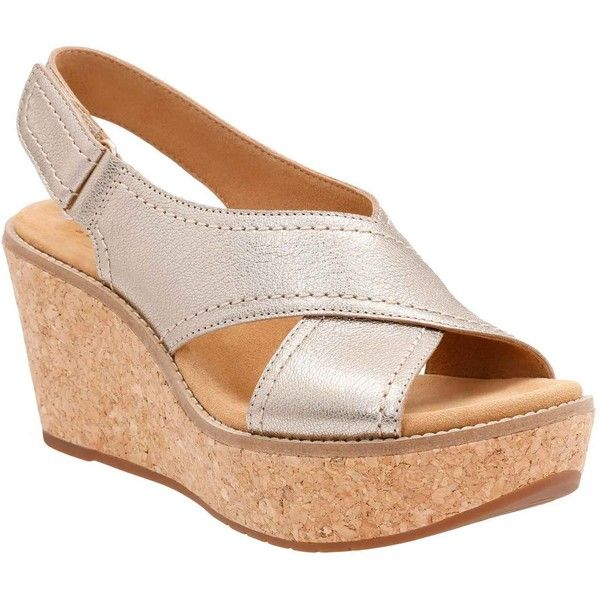 Clarks Women's Aisley Tulip Gold Metallic Sandals ($120