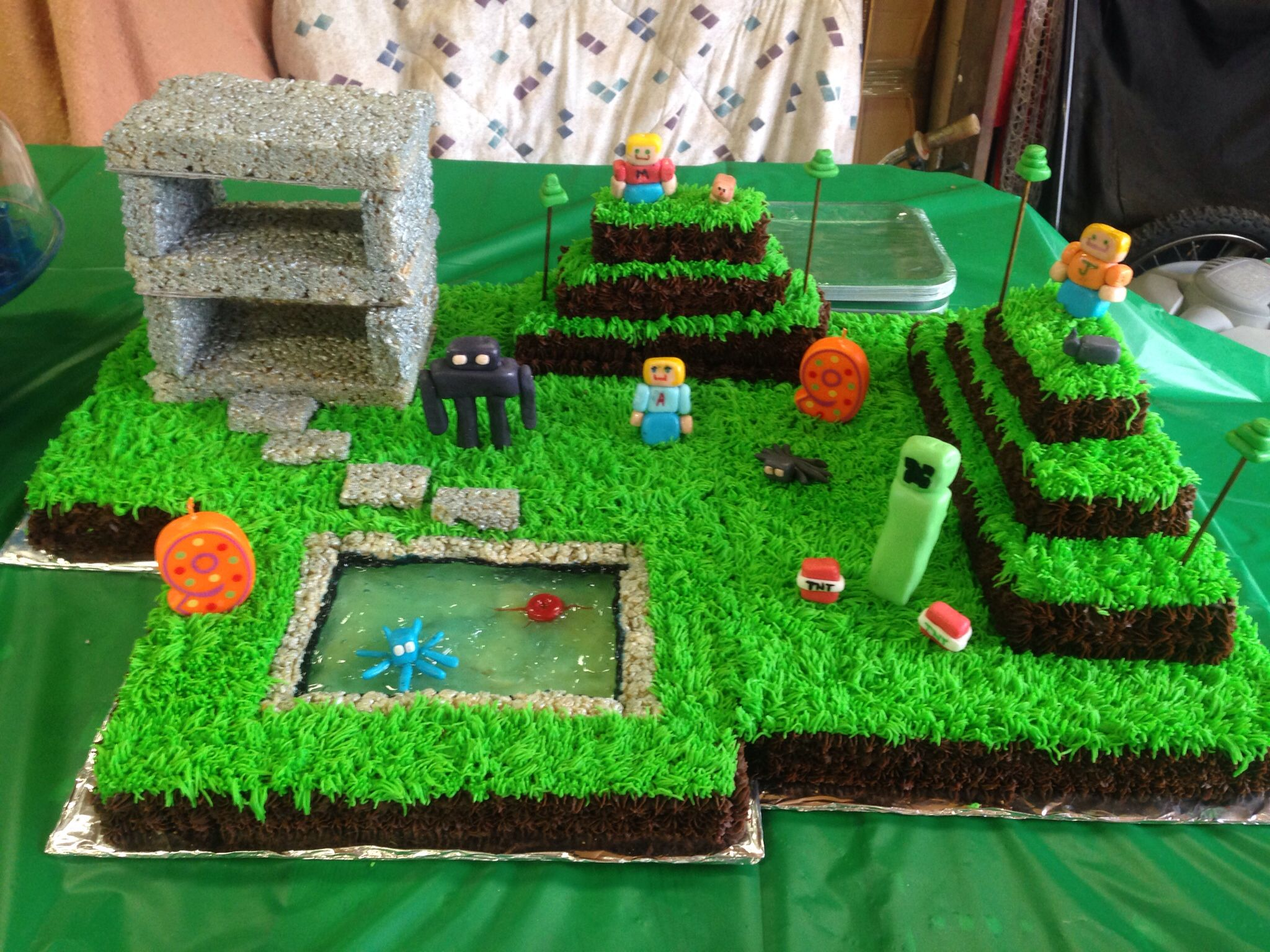 Coolest Minecraft Cake Minecraft Birthday Cake Minecraft