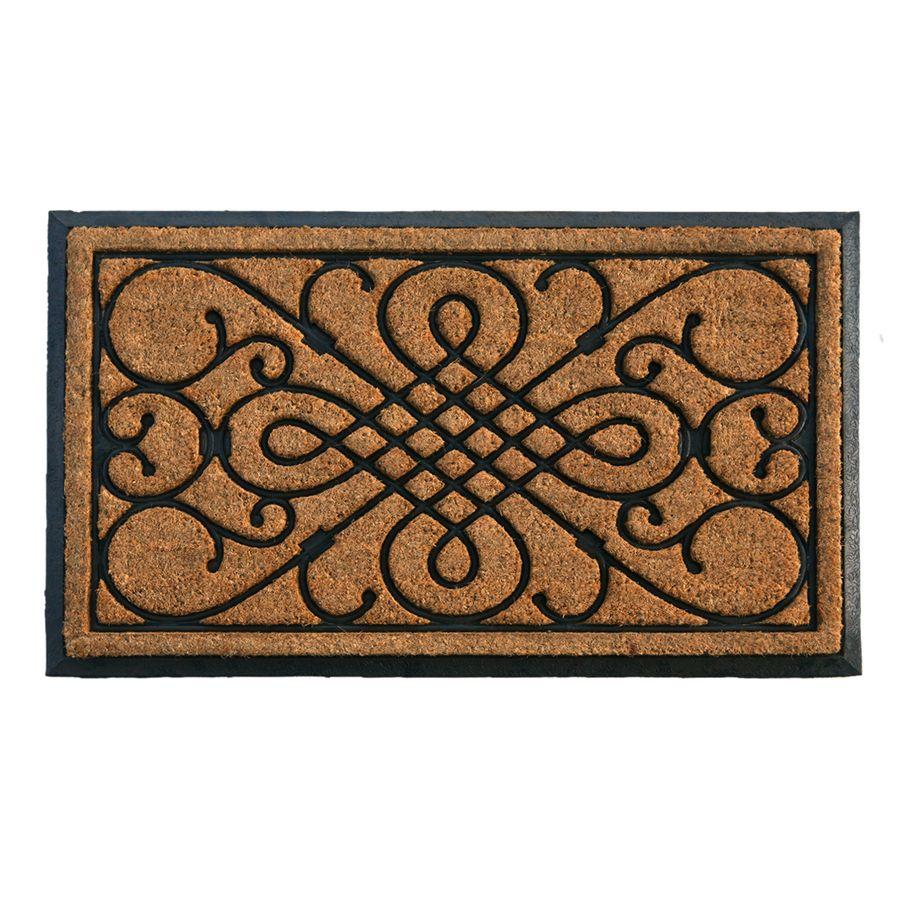 Style Selections Styleselections Black Rectangular Indoor Door Mat Common 2 Ft X 3 Ft Actual 24 In X 39 In Lowes Com Indoor Door Mats Door Mat Rubber Door Mat