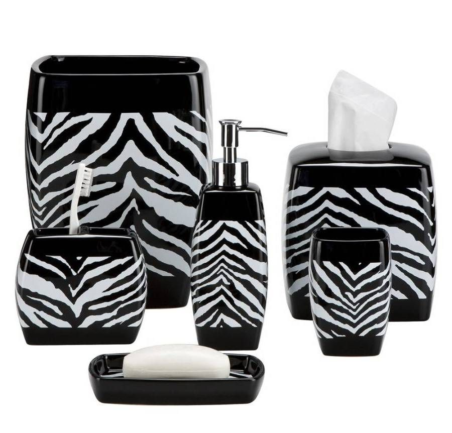 Zebra Print Bath Accessories Finding