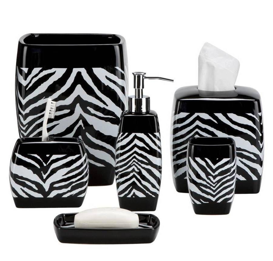 Zebra Print Bath Accessories Finding The Best Bathroom Sets Shower Remodel