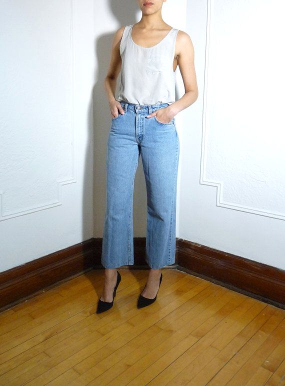 Levi's cropped wide leg jeans | Levis, Legs and Wide legs
