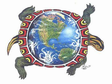Native American Turtle Island Mother Earth Turtle, t...