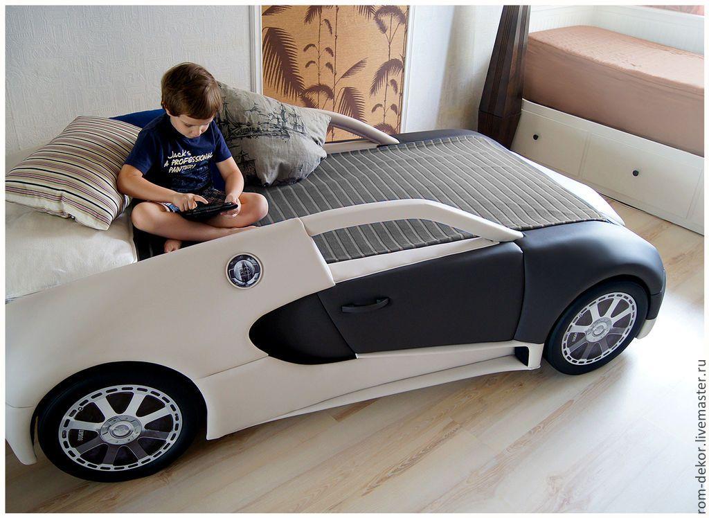 Купить Детская кровать-автомобиль BugaTTi Veyron. Кожа. - детская кровать, кровать для мальчика ...