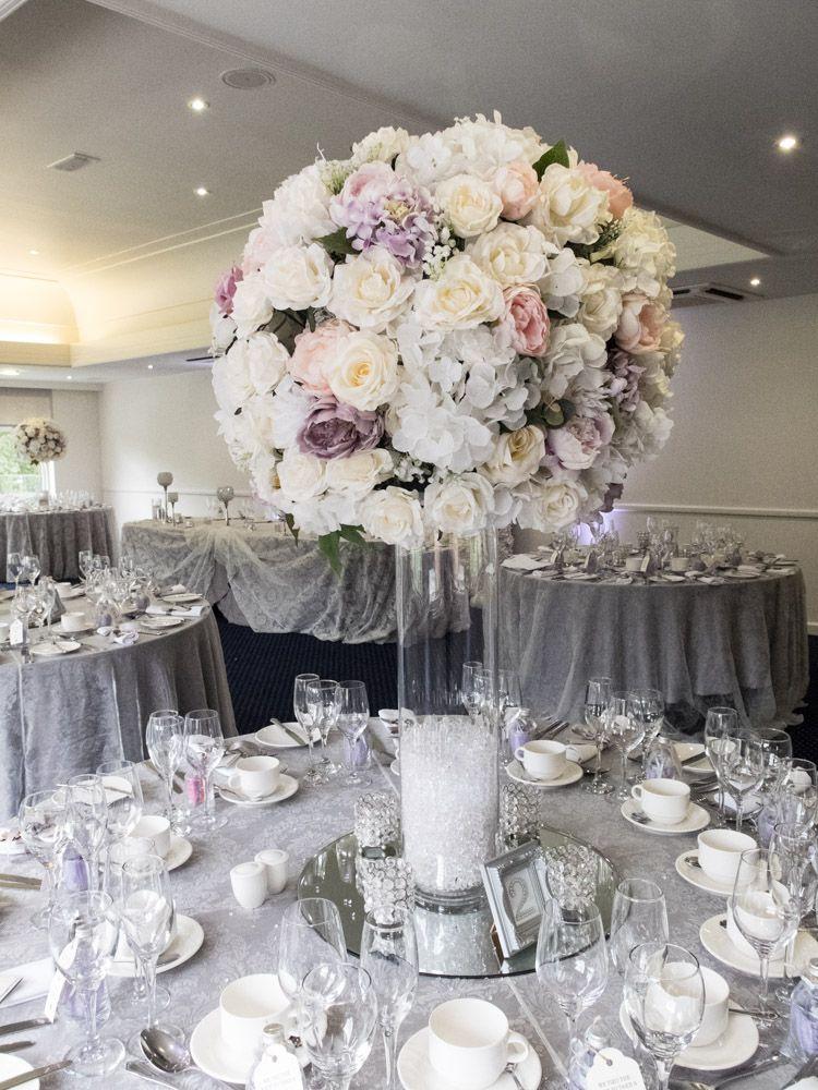 Large Silk Flower Wedding Centrepiece Tall Vase Wedding