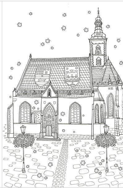 Romantic Croatia MADE IN KOREA Coloring Book For Children Adult