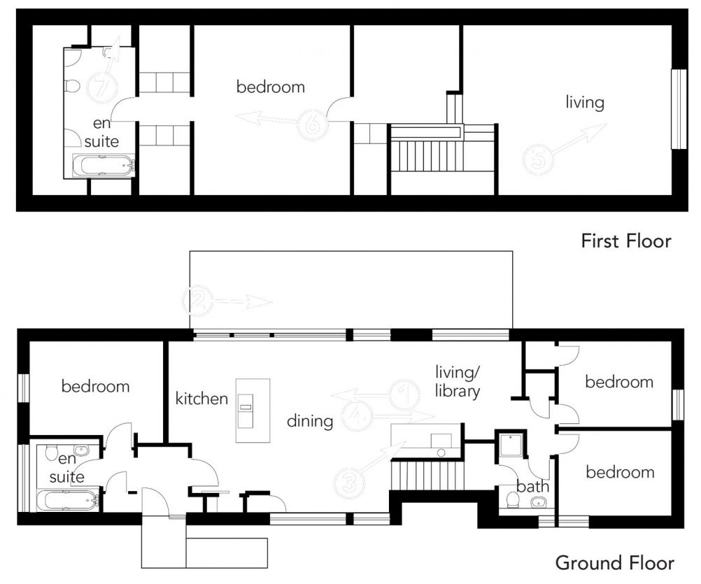 A Sustainable Long House Homebuilding Renovating Long House House Plans Floor Plans