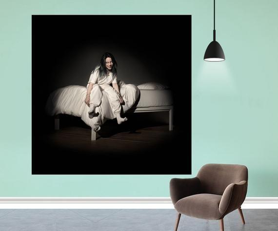 Billie Eilish When We All Fall Asleep Where Do We Go Poster Album Cover Print