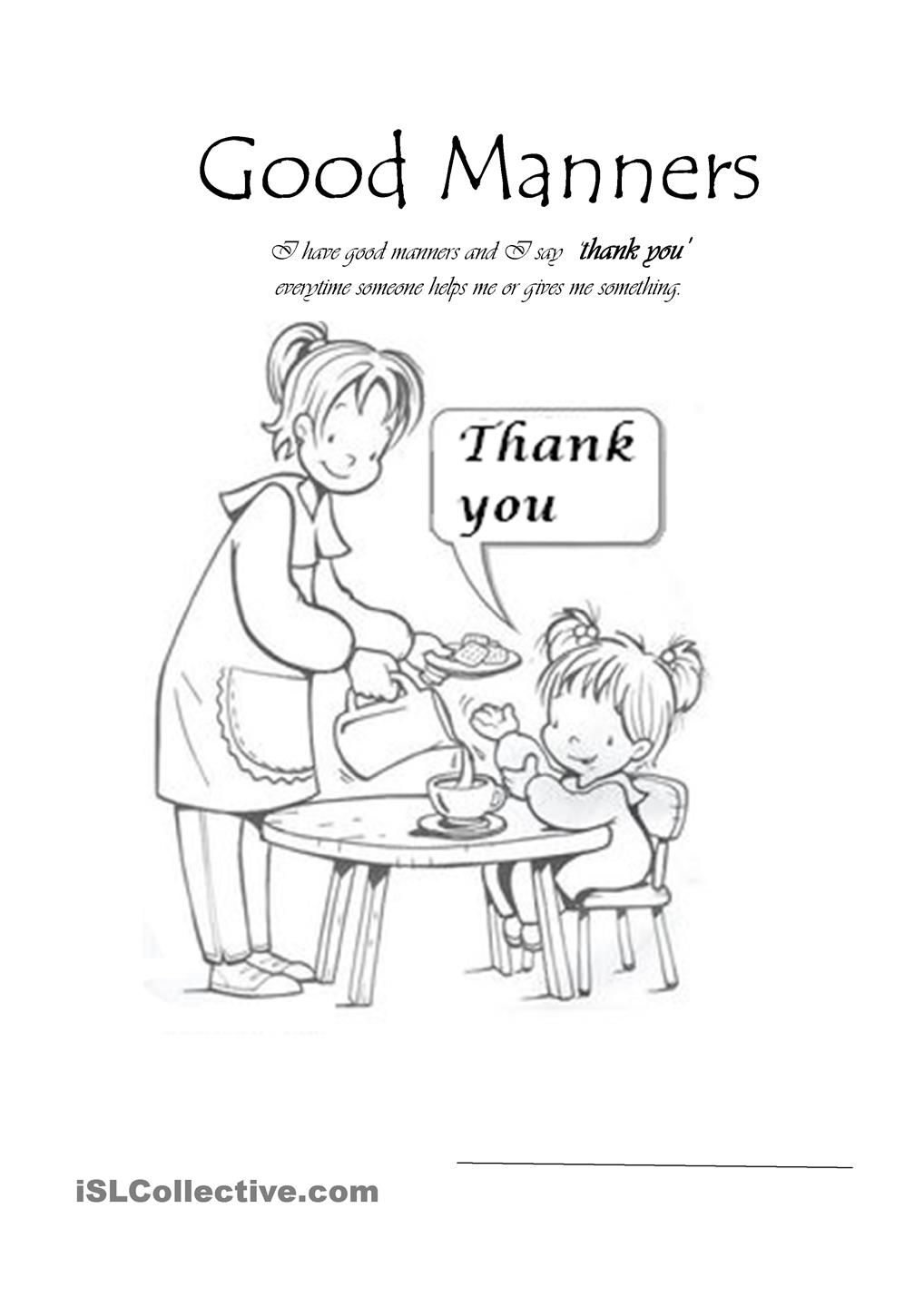 Worksheets Good Manners Worksheets good manners girls card pinterest worksheets and learning process