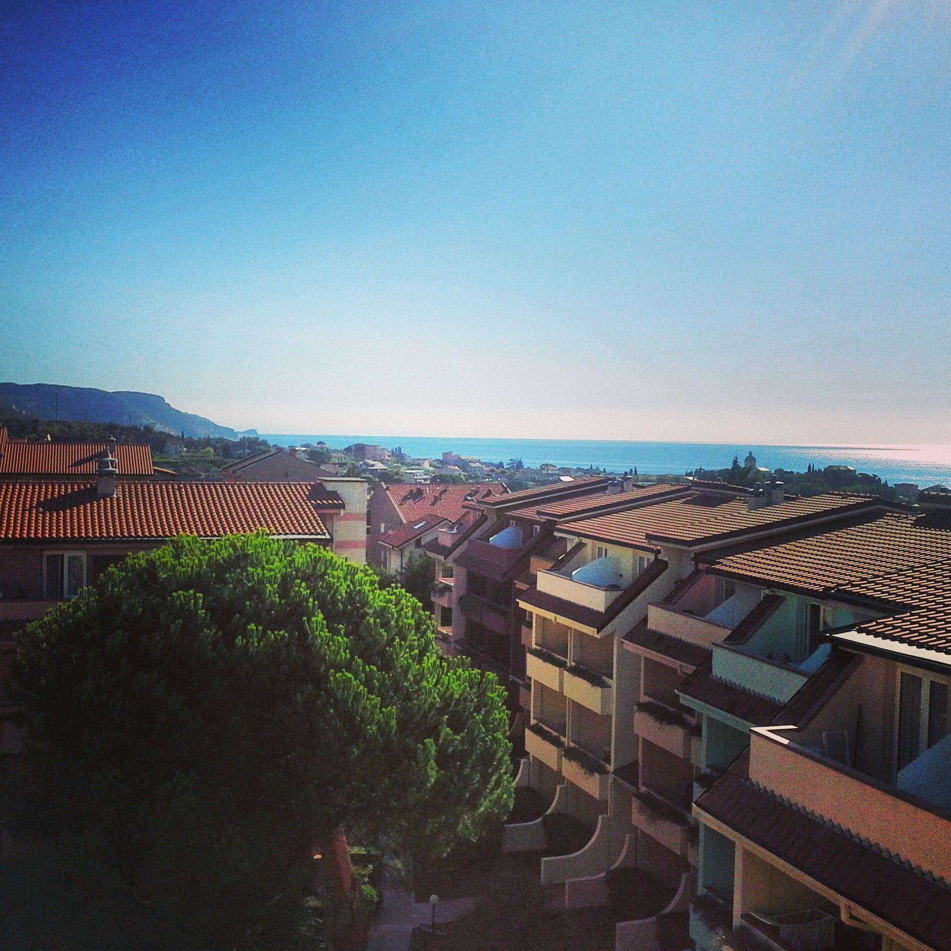 #panorama #loano2village #italy #loano #resort #likeit #wonderful #colors #bluesky #green #tree #many #apartment #riviera