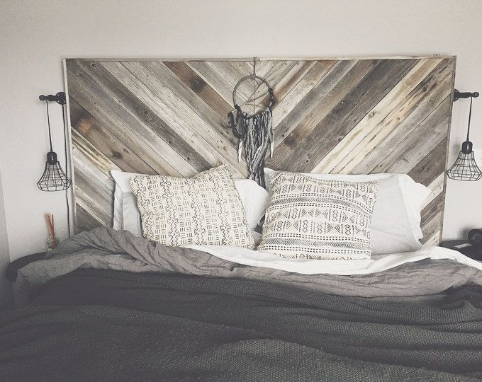 Reclaimed Wood Headboard King Queen Full Twin Double Single Cali Cal California Beach House Cabin Bed Head Board Chic Rustic Loft Shabby