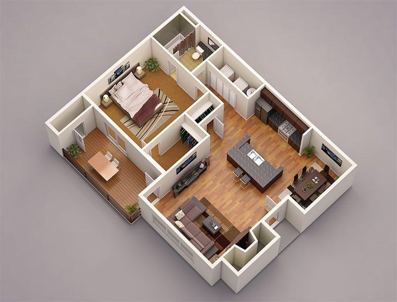 Design Photo Realistic 3d Floor Plans For Your Property And Increase Sale Convert Your 2d Plan Layout To 3d Flo 3d House Plans 3d Home Design House Blueprints