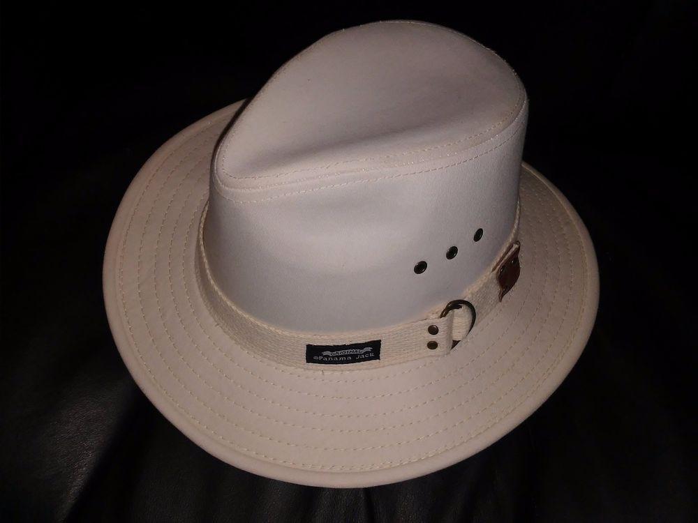 cedcd20220f973 GENUINE PANAMA HAT - Panama Jack PJ39NC Original Canvas Safari Hat # PanamaJack