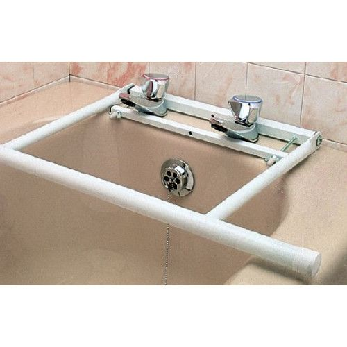 This useful rail attaches neatly and easily to standard bath taps