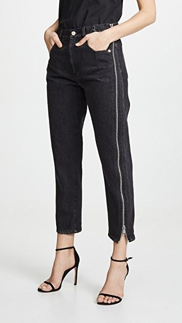3.1 Phillip Lim Straight Jeans with Zipper | SHOPBOP ...