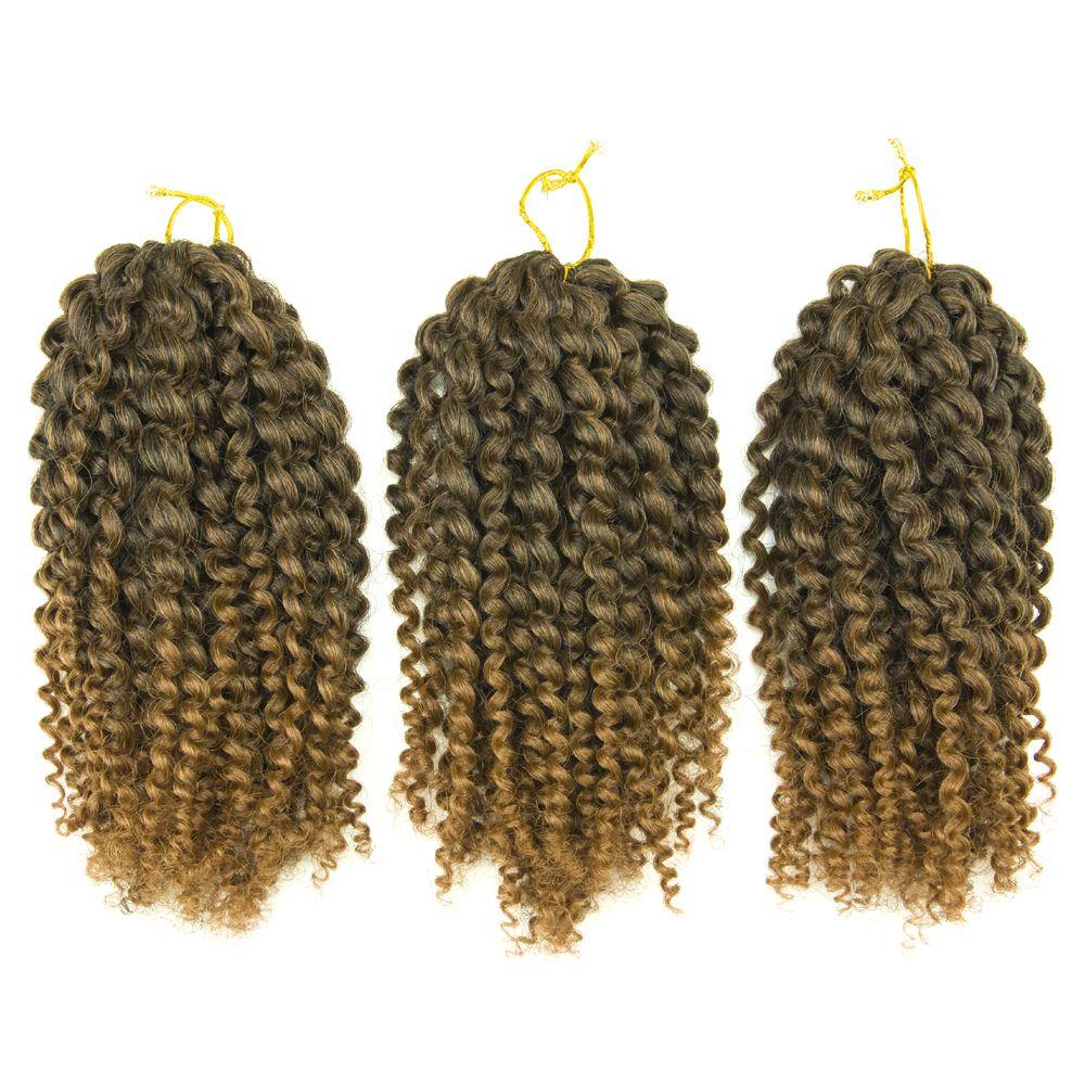 8 Inches Mali Bob Curly Twists Crochet Twisting Hair Extension