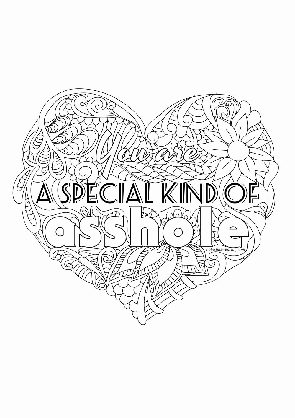Heart Coloring Pages for Talented Kids in 2020   Words ...