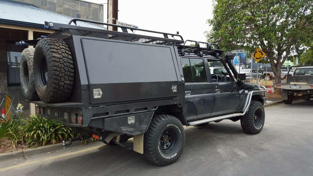 Pin By Samuel Oliver On 79 Dual Cabs Ute Canopy Land Cruiser