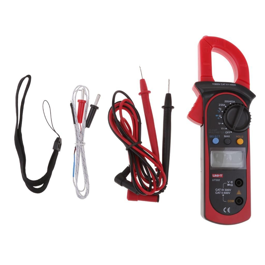 Ut202 Auto Range Digital Clamp Meter Multimeter Ac Dc Voltmeter Electronic Voltmeters Amp Temperature Tester With Carry Bag Yesterdays Price Us 2694 2433 Eur