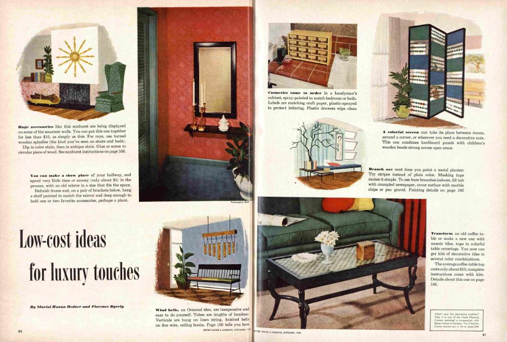 Better Homes Gardens September 1956 Magazine 1950s Home Decor Better Homes Gardens Better Homes And Gardens Magazine