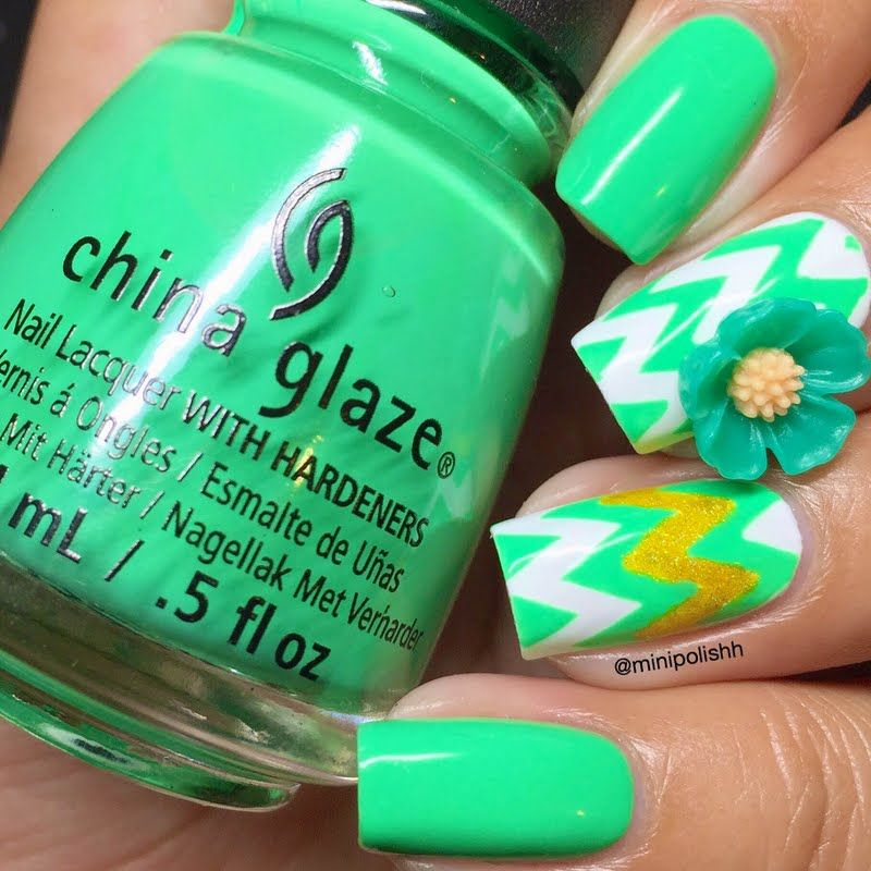 Make your nails stand out in a snap with chevron patterns. Check out ...