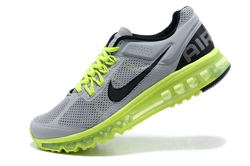 Mens running shoes Nike Air Max 2013 Cool Grey Electric Green Anthracite