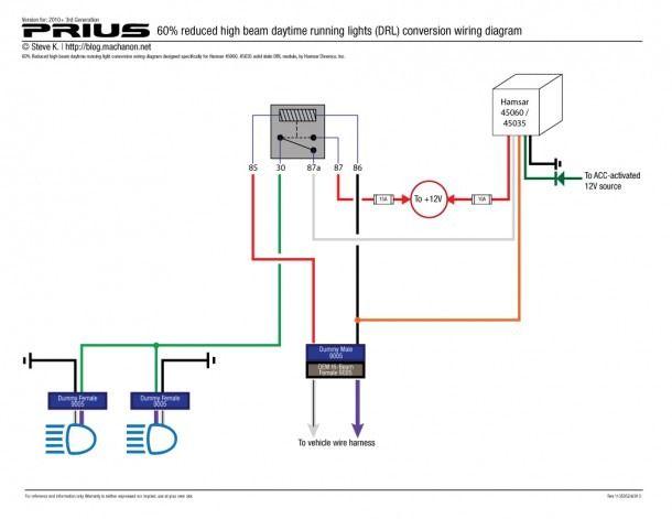 Daylight Running Lights Wiring Diagram | Running lights, Lights, Diagram  Pinterest