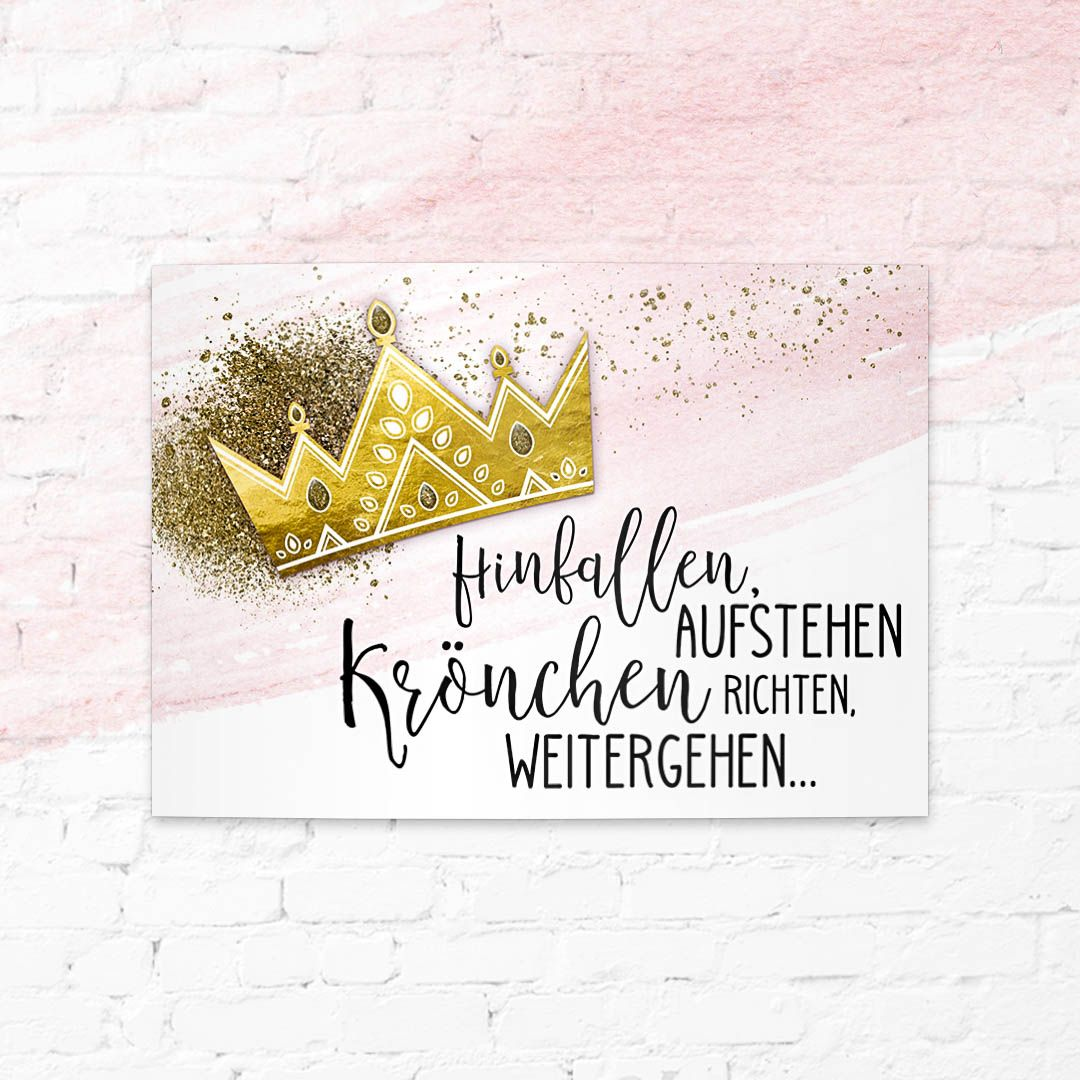 Spruchkarte Krone selbst gestalten! | Sprüche