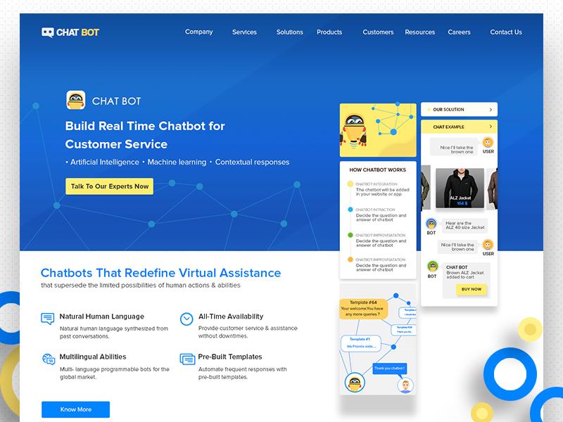 Chatbot Web Design In 2020 Chatbot Web Design Machine Learning