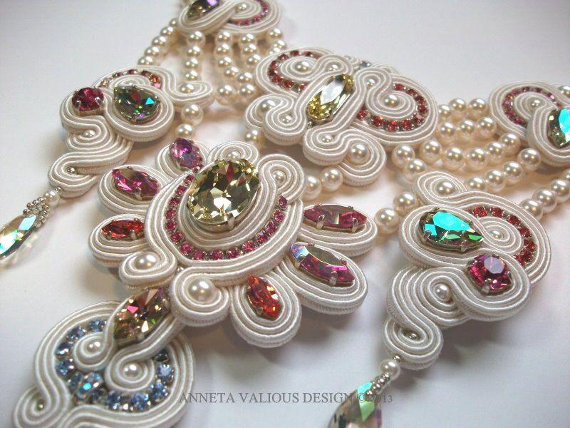Lakshmi's Gift - soutache necklace by AnnetaValious on Etsy https://www.etsy.com/listing/108449879/lakshmis-gift-soutache-necklace