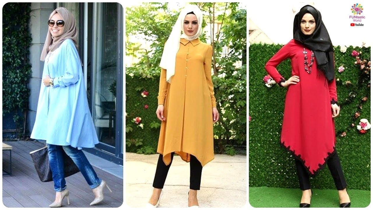 2f9675c5a Top Beautiful Kurti/Kurta Designs For Hijabi Girls 2018 | Latest Summer .
