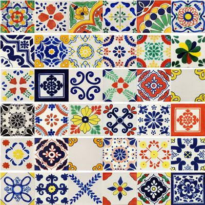 100 Mexican Tiles Mexican Tiles San Diego California Talavera Tiles Talavera Mexican Ceramics