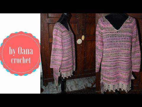 426642b65f78 Crochet broomstick lace tunic by Oana - YouTube