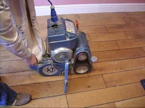Belt Drum Floor Sander Tutorial Youtube With Images Diy