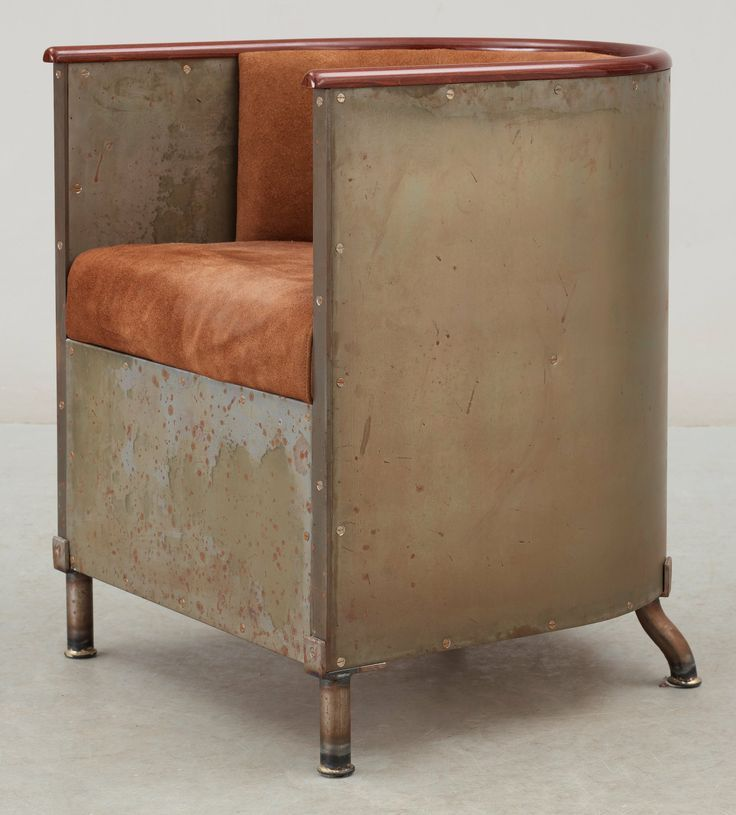 industrial metal tub chair | Cigar Chairs | Pinterest | Metal tub ...