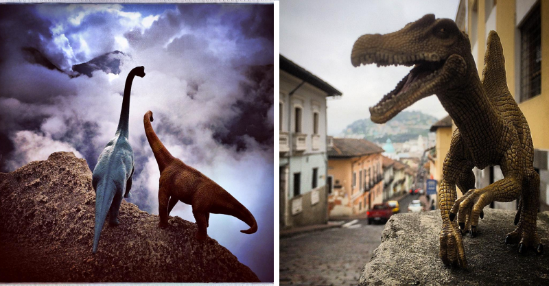Toy dinosaurs are taking over Instagram and their photos are fantastic #Dinosaurs, #Instagram, #Photography