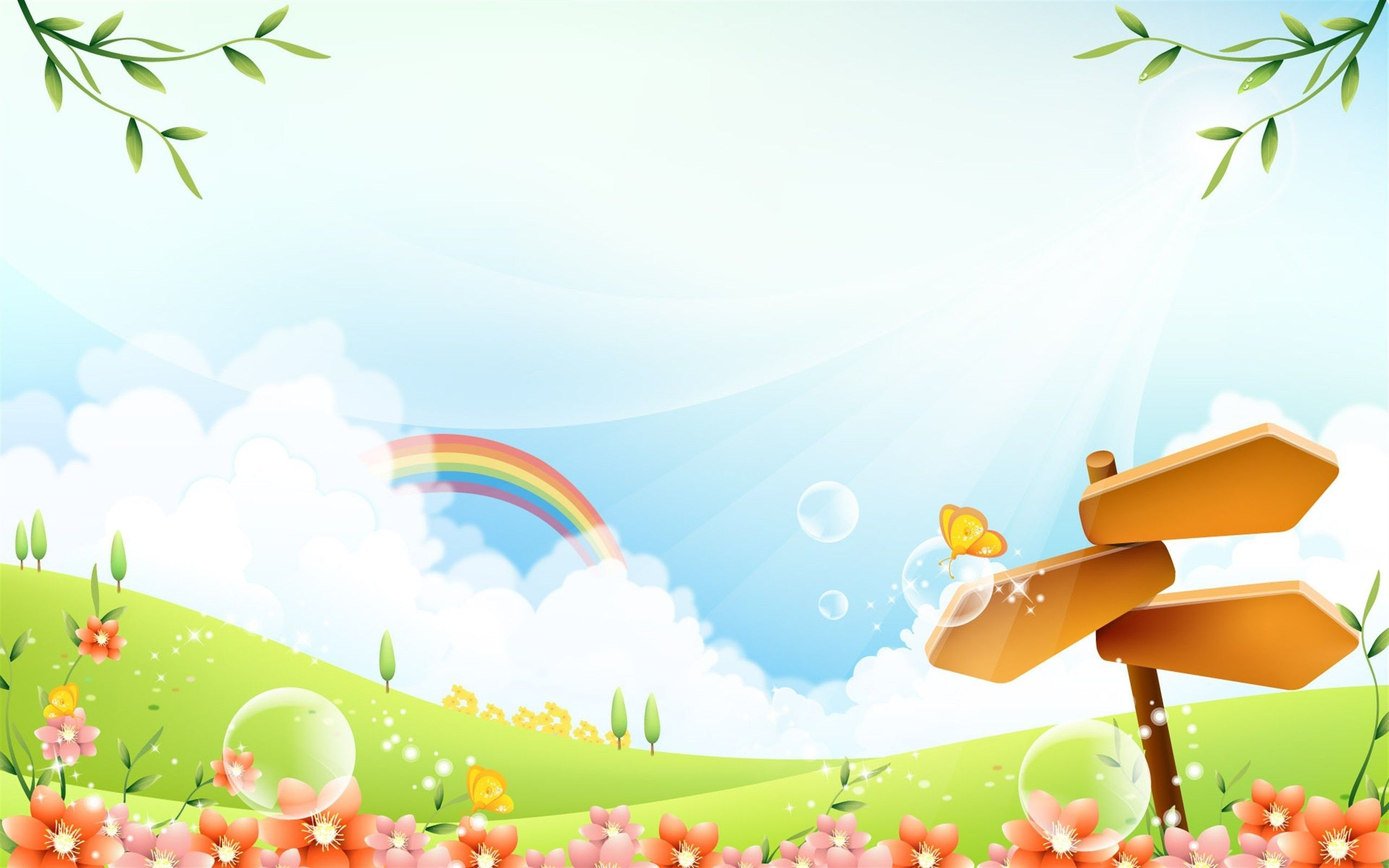 Rainbow Background Kids Background Landscape Background Cartoon Background Background Images Kids