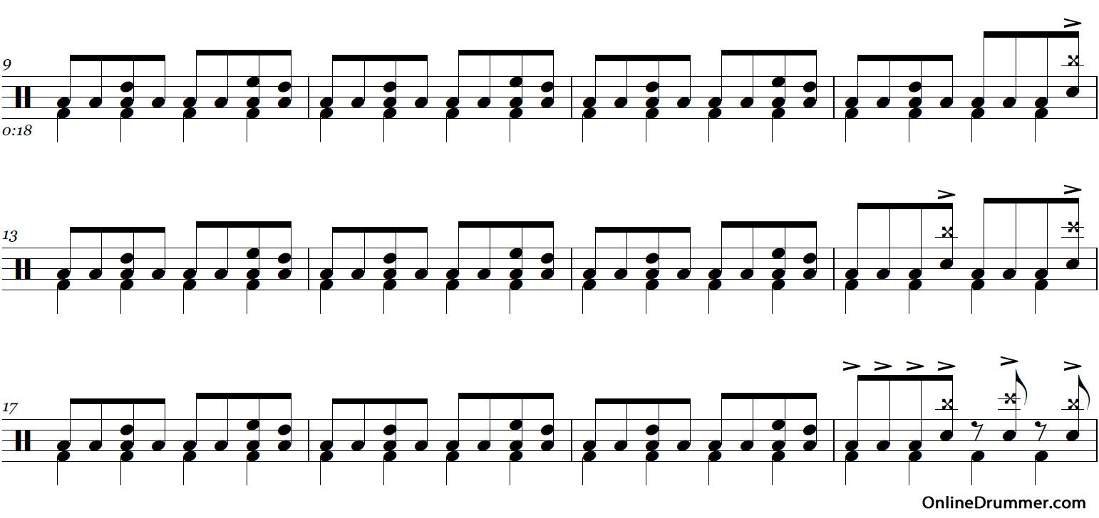 nothing else matters drum tab pdf