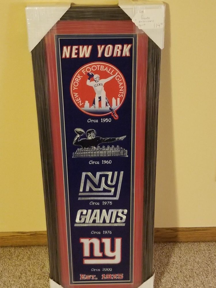 New York Giant Framed Embroidered Mascots Circa   Emblems 195019601976 (eBay  Link) 61760a864