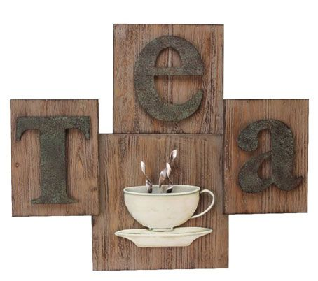 Wood And Metal Wall Art contemporary 'wood & metal tea' wall art | food - time for tea