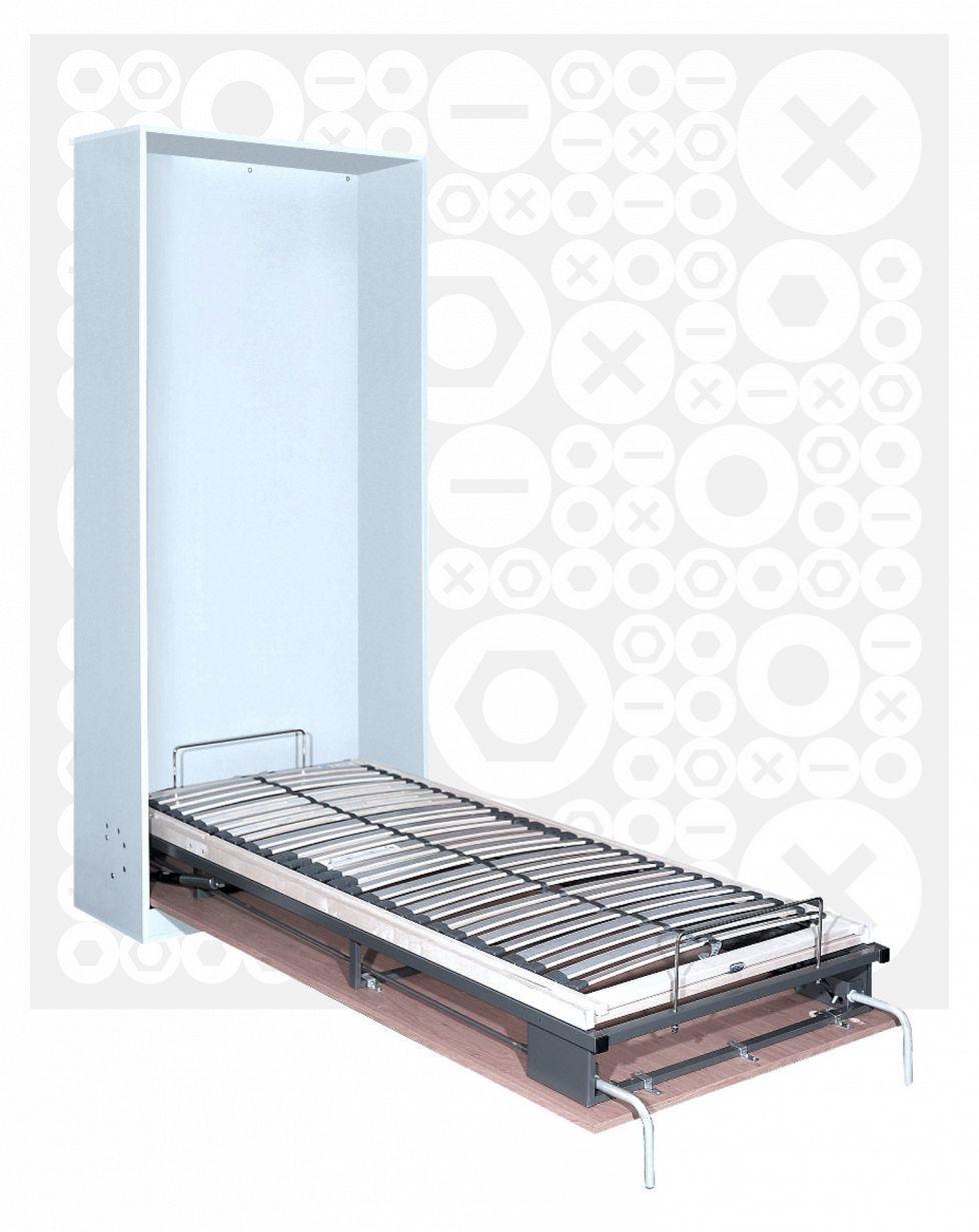 Kaappisänkymekanismi (hemtek.fi) > tuote sisältää kaiken muun tarpeellisen, paitsi itse kalusteen, johon sänky voidaan asentaa. Hemtek.fi -verkkokaupan valikoimissa 900 mm & 1400 mm levyiset, pohjasta tai sivusta kiinnitettävät mallit, patjalla tai ilman