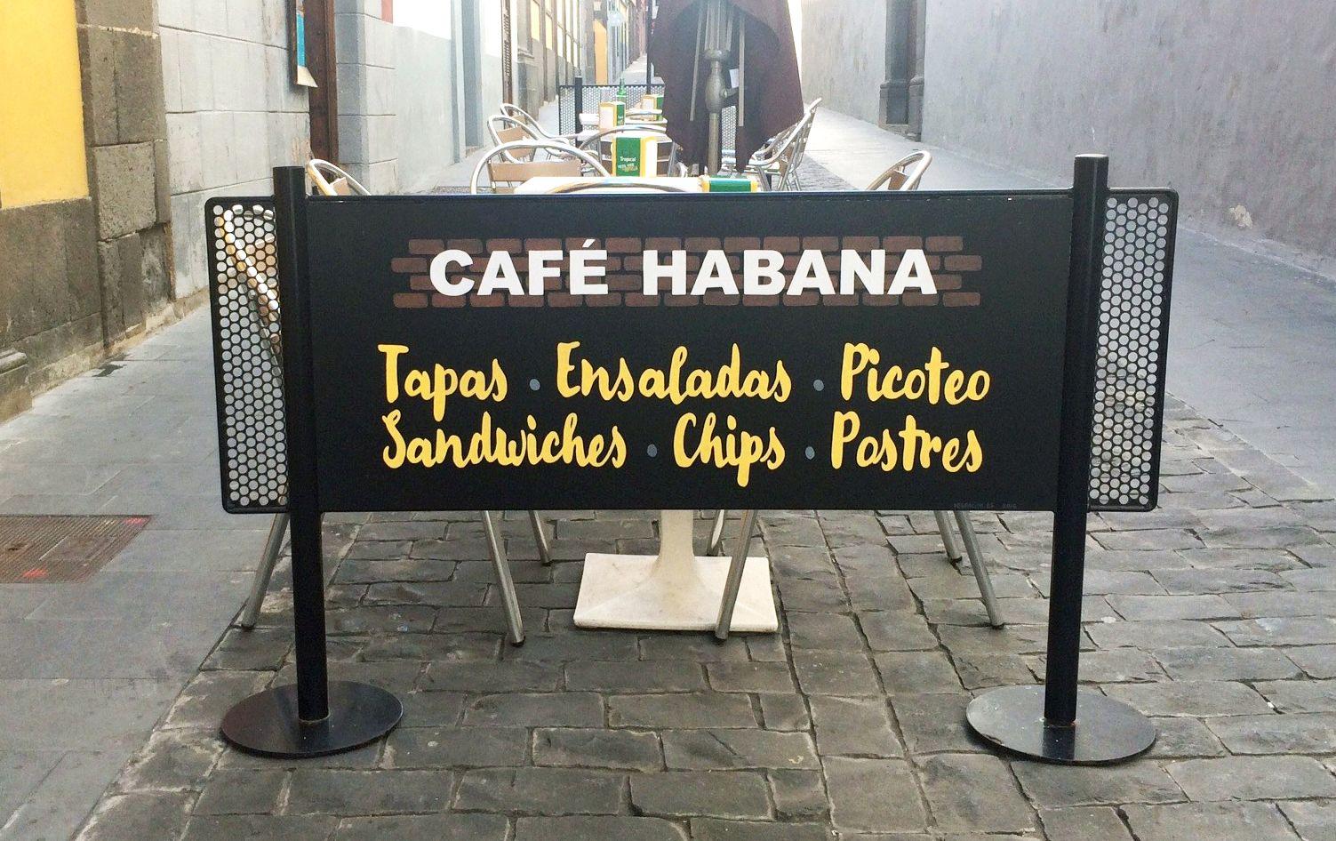 Cartel para Café Habana (Las Palmas de GC). Esmalte sintético sobre PVC espumado.