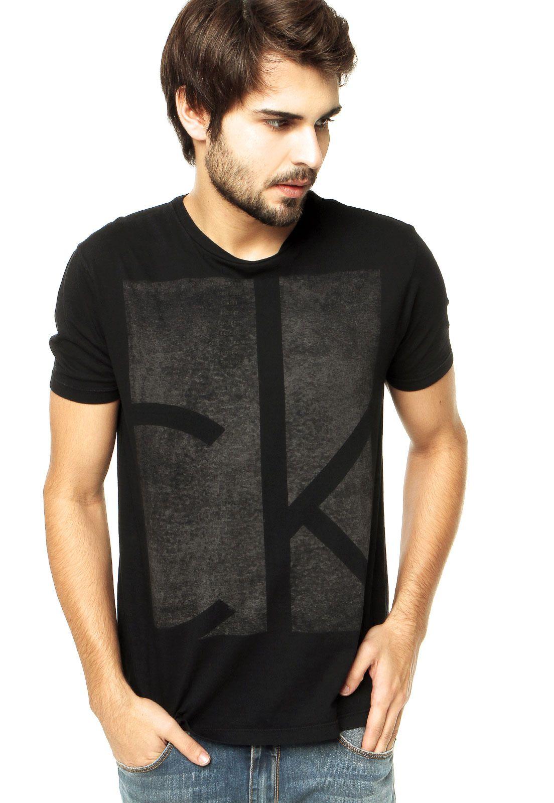 1fbefae82de23 Camiseta Calvin Klein Jeans Preta - Compre Agora