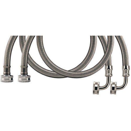 Calflex Wmsl5 2 Pack Braided Stainless Steel Washing Machine Connectors With Elbow 5 Ft 2 Pk By Savard 13 07 3 4 Female Hose Thread X 3 4 Machs
