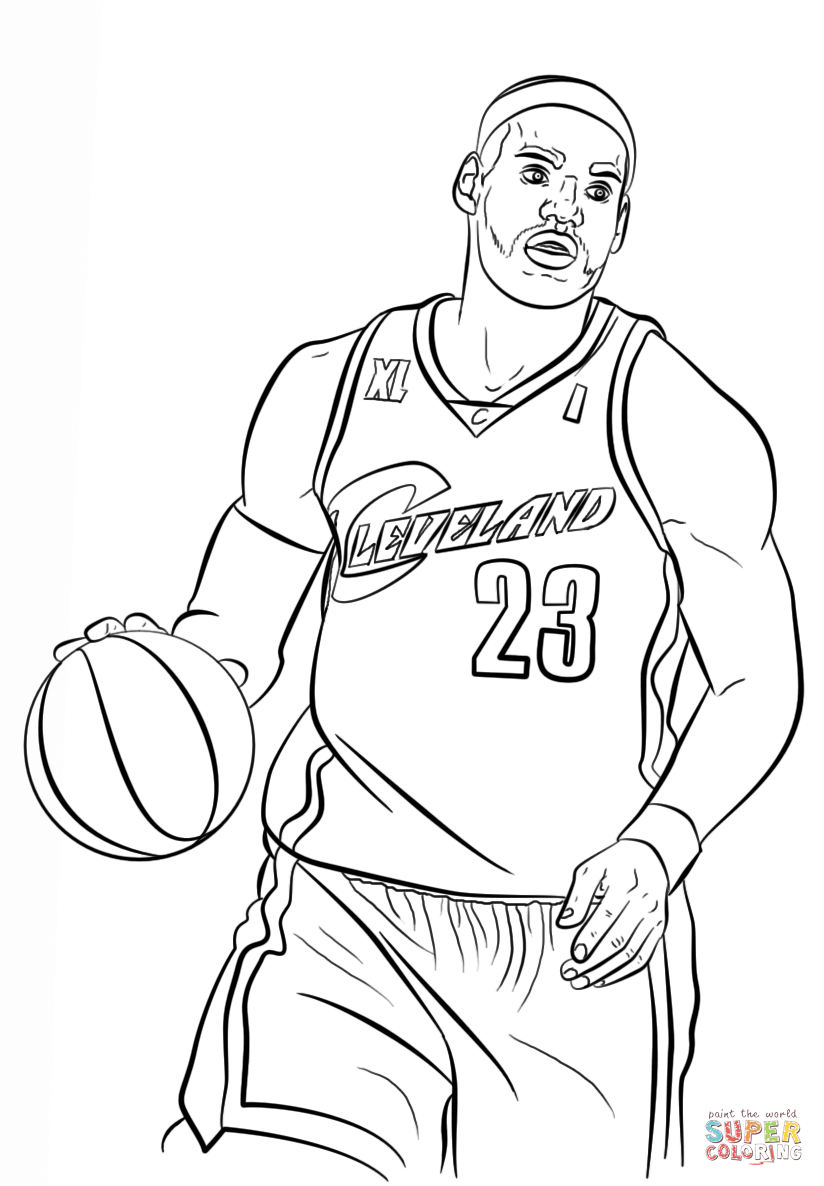 Lebron James Coloring Page Free Printable Coloring Pages Sports Coloring Pages Coloring Pages For Kids Coloring Pages