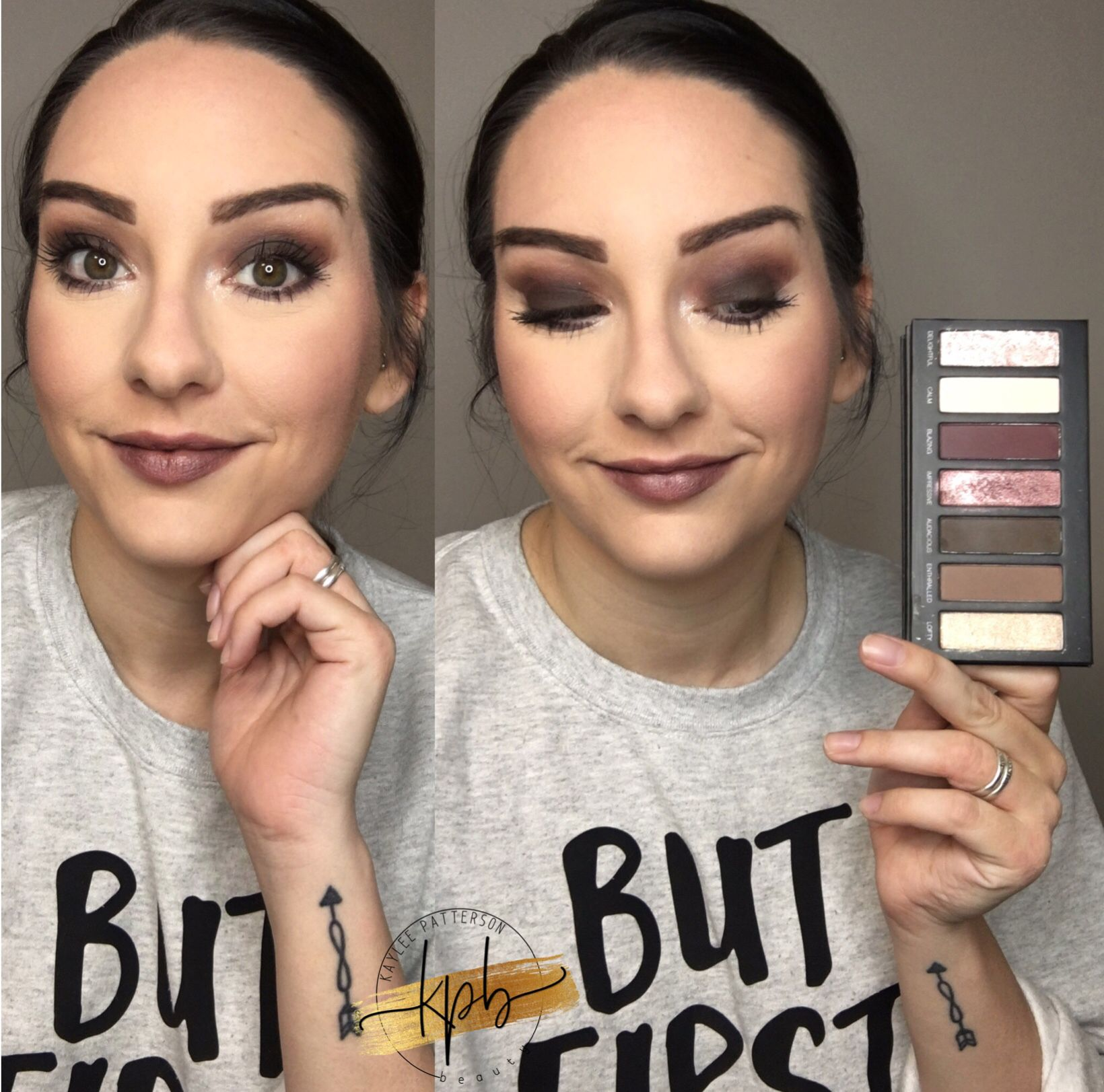 Full face with Palette 6 Natural organic makeup, Natural