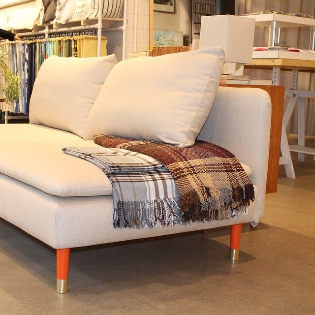 Autumn Colours With Estelle Orange IKEA Söderhamn And Cover From - Add color to your room prettypegs replace your ikea legs