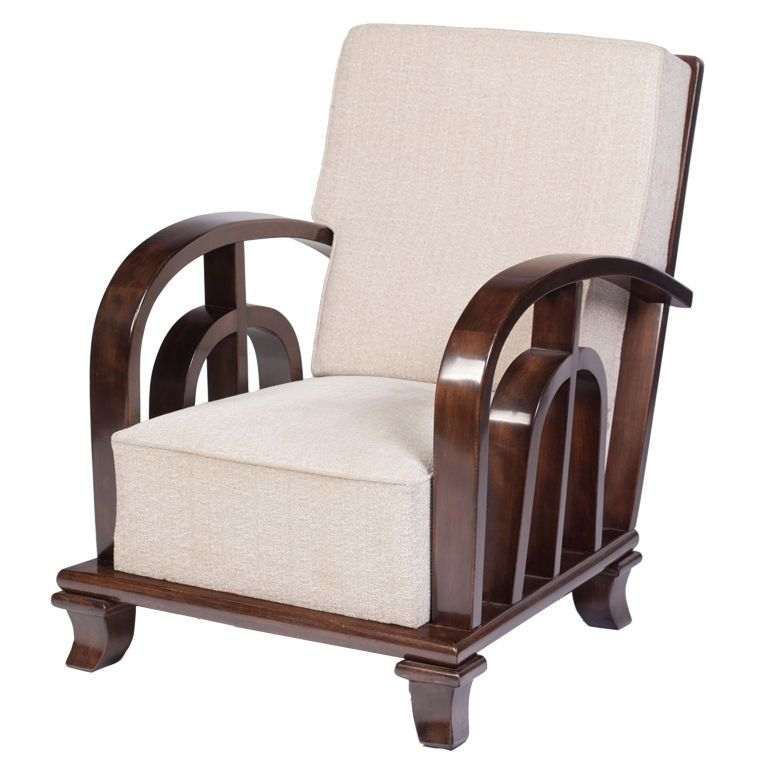 Art Deco Walnut Club Chair By Kozma Lajos Deco Chairs Deco Furniture Modern Art Deco