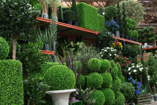 Elegant Mixed Artificial Plants At New Covent Garden Flower Market   March 2016