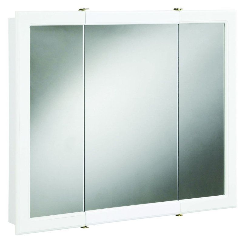 View The Design House 531459 48 Framed Triple Door Mirrored Medicine Cabinet From Concord